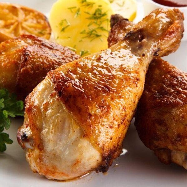 Fusi di pollo arrosto